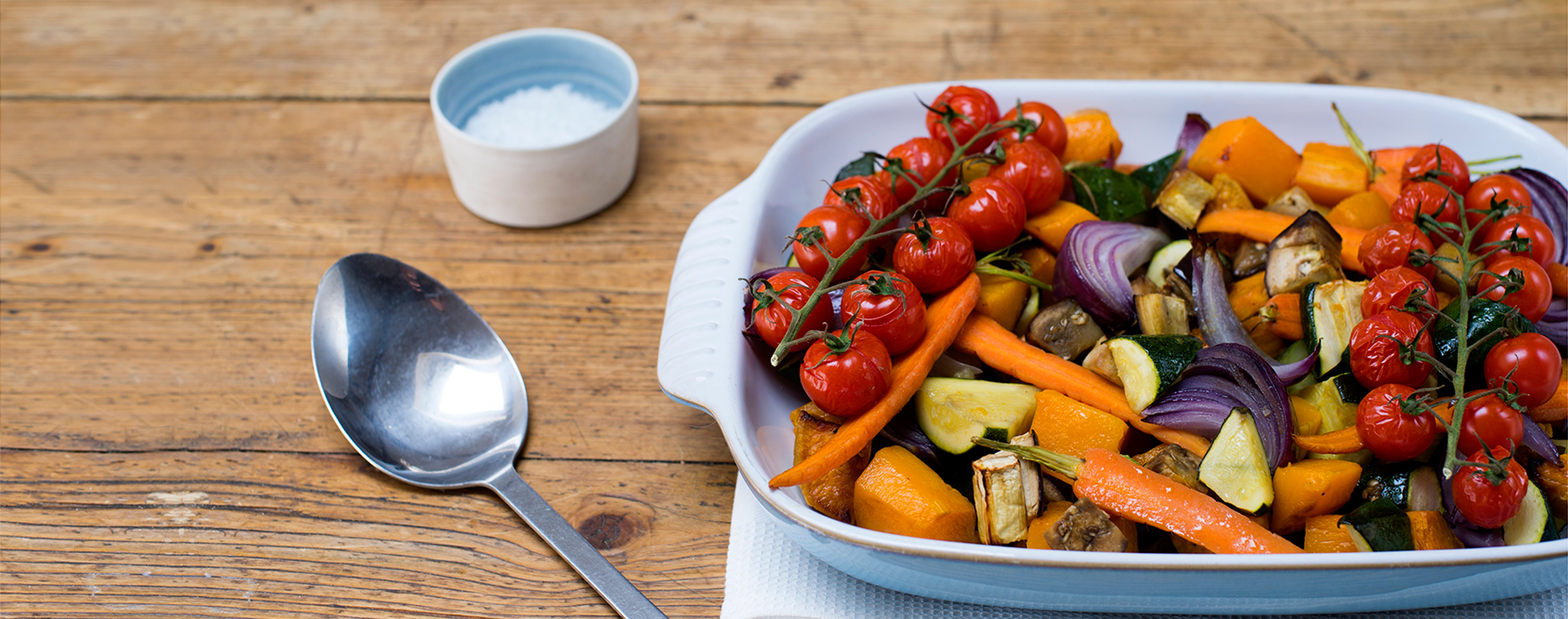 Roasted vegetables in rapeseed oil