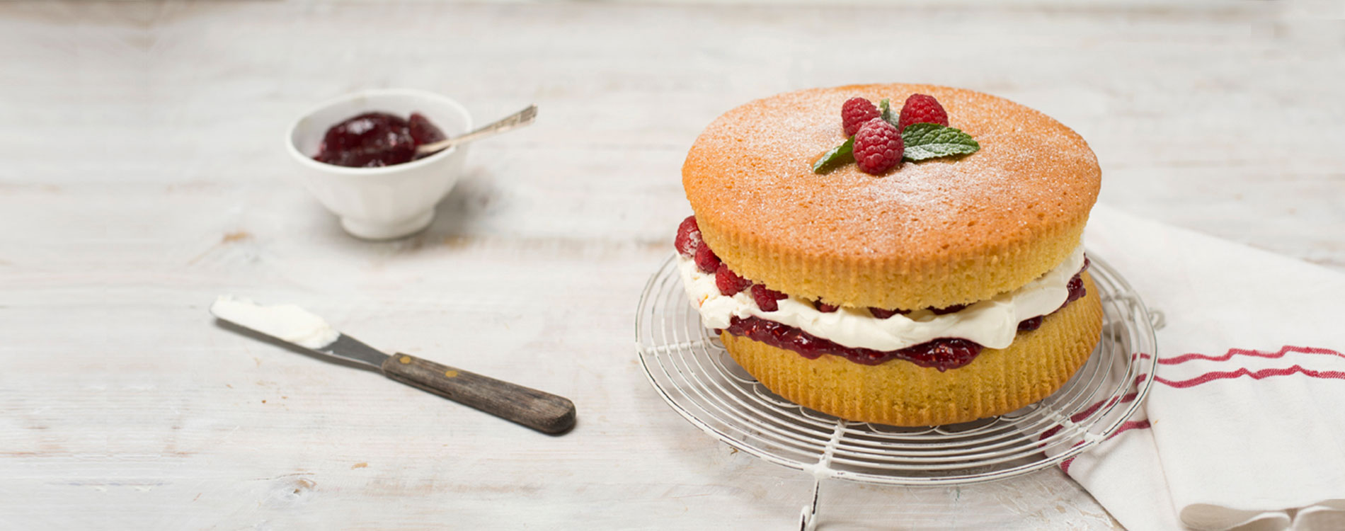 Victoria Sponge made with rapeseed oil