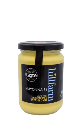 hillfarm farmhouse mayonnaise made with cold pressed rapeseed oil