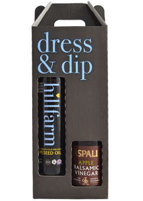 Dress & dip gift set with hillfarm rapeseed oil & aspall apple balsamic vinegar