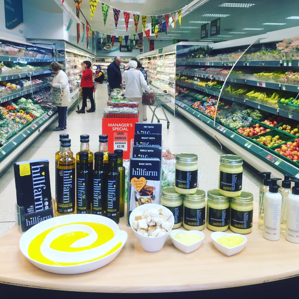 Hillfarm Oils at East of Englan Sourced Locally Fortnight