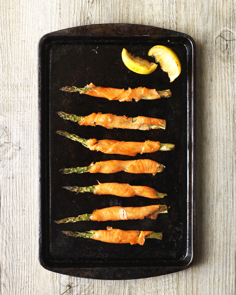 Smoked Salmon Wrapped Asparagus