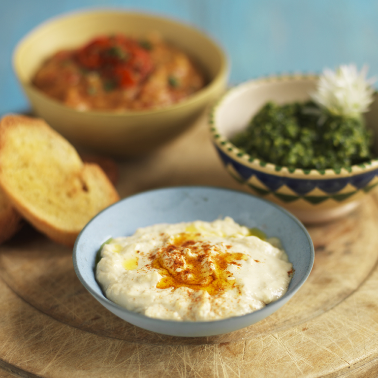 Hummus recipe made with rapeseed oil