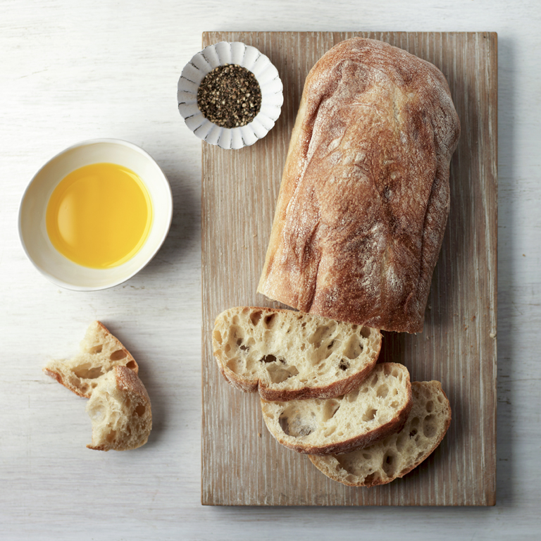 Ciabatta made with rapeseed oil