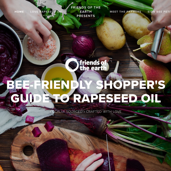 Bee Friendly Shoppers Guide to Rapeseed Oil