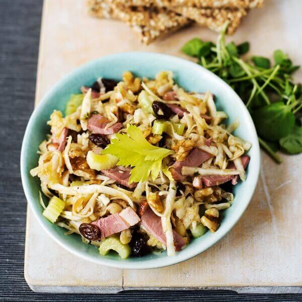 Duck waldorf salad